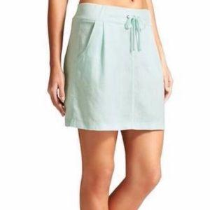 Athleta Selina blue mini skirt linen 6